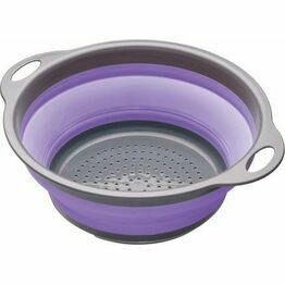 Collapsible Colander with Grey Handles - Purple