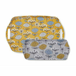 Cooksmart Serving Trays Retro Meadow Design