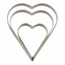 Tala Heart Cutters - Stainless Steel (Set of 3)