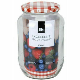 Excellent Housewares 900ml Large Glass Storage Jar
