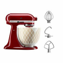 Kitchenaid Grenadine Artisan 4.8ltr Stand MIxer 5KSM156 Gold Conifer Enamel Bowl