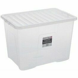 Wham Crystal 80ltr Box & Lid Clear - 11315