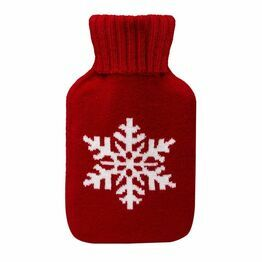 Hot Water Bottle 750ml Winter Red
