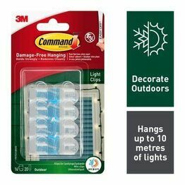 Command Outdoor Light Clips Value Pack 17017CLR-AW