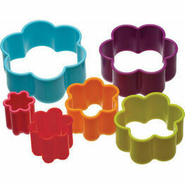 Flower Shaped Cookie Cutter Set (6)