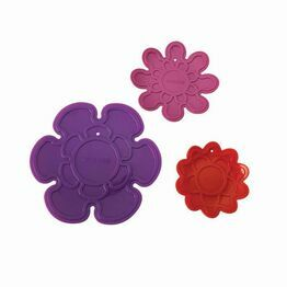 Silicone Trivets Set of 3 Kizmos Flora