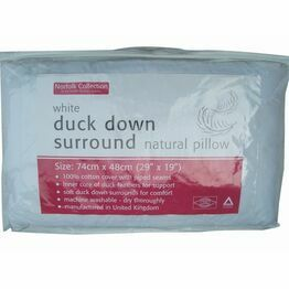 Norfolk Collection Duck Down Surround Natural Pillow