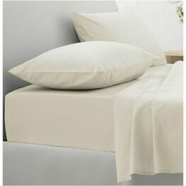 Dorma Sateen Fitted Sheets Cream