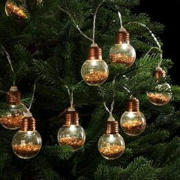 Noma Copper Glitter Bulbs 20190141