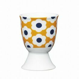 Kitchen Craft Retro Flower Spot Porcelain Egg Cup