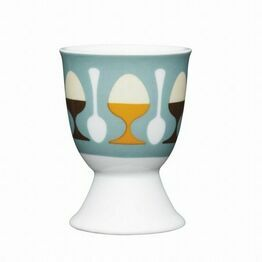 Kitchen Craft Retro Eggs Porcelain Egg Cup