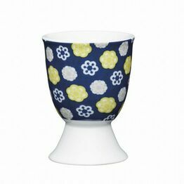 Kitchen Craft Floral Blues Porcelain Egg Cup