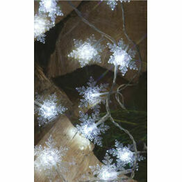 Noma 20 Led Battery Operated Christmas Lights Crystal Snowflake