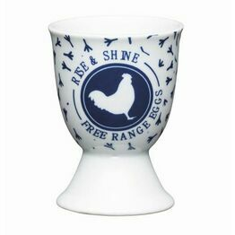 Kitchen Craft Traditional Blue Hen Porcelain Egg Cup