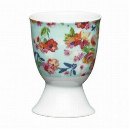 Kitchen Craft Floral Tropics Porcelain Egg Cup