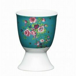 Kitchen Craft Floral Rose Porcelain Egg Cup
