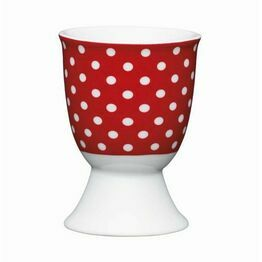 Kitchen Craft Polka Dot Red Porcelain Egg Cup