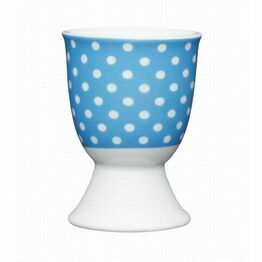 Kitchen Craft Polka Dot Blue Porcelain Egg Cup