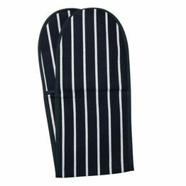 Butchers Stripe Double Oven Glove Navy