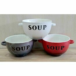 Soup Bowl Two Handles