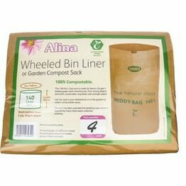 Alina Compostable Wheeled Bin Liner pack of 2