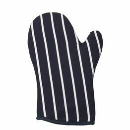 Rushbrookes Oven Glove - Butchers Strips Navy