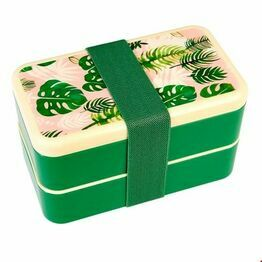 dult Size Bento Lunch Box Tropical Palm Print Design 27881