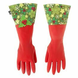 Christmas Festive Holly Washing Up Gloves