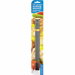 Kitchen Craft Pack of Six Flat Sided Skewers 30cm