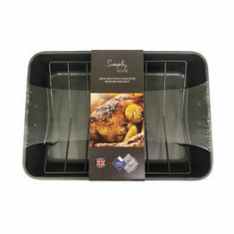 Simply Home Heavy Duty Non-Stick Roaster and Rack PAR003