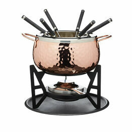 Copper Effect Fondue Set