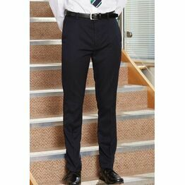 School Trousers Senior Boys Slim Fit Black