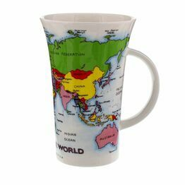 Dunoon Glencoe Fine Bone China Mug - Map of the World