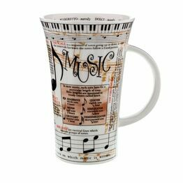 Dunoon Glencoe Fine Bone China Mug - Music