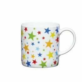 Espresso Coffee Mug Porcelain 80ml - Multicoloured Stars