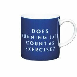 Espresso Coffee Mug Porcelain 80ml - Running Late