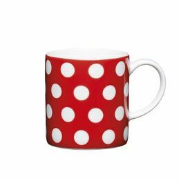 Espresso Coffee Mug Porcelain 80ml - Red Polka Dot