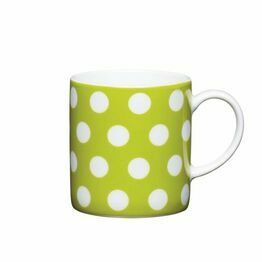 Espresso Coffee Mug Porcelain 80ml - Green Polka Dot