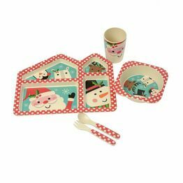 Bamboo Santa & Friends Kids Dinner Set 5pc