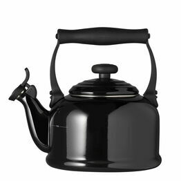 Le Creuset Satin Black Traditional Stove Top Kettle 2.1Ltr
