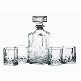 Barcraft Cut Glass Decanter & Glasses Set