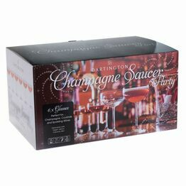 Dartington Crystal Champage Saucer Party 6 glasses