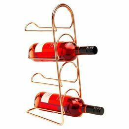 Hahn Pisa 4 Bottle Wine Rack Copper 70043