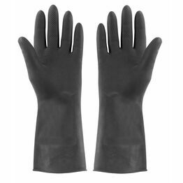 Rubber Gloves Black Extra Tough