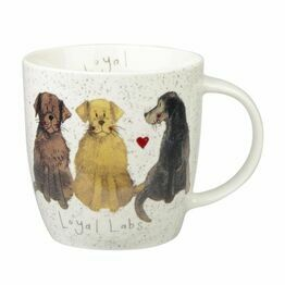 Alex Clark China Squash Mug Loyal Labradors ALCK10201