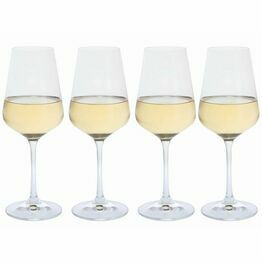 Dartington Crystal Cheers! White Wine Glass 4pk