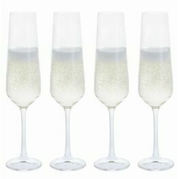 Dartington Crystal Cheers! Champagne Flute Glass 4pk
