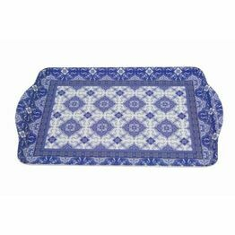 Medium Melamine Tray 33x22cm Azuelji Blue