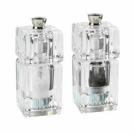Cole & Mason Mini Cube Acrylic Salt & Pepper Mills 90mm