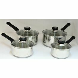 Chefmate Stainless Steel Saucepan with Lid